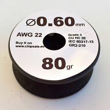 0.6 mm 22 AWG Gauge 80 gr ~30 m (2.8 oz) Magnet Wire Enameled Copper Coil