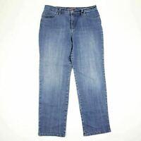 Gloria Vanderbilt Womens Amanda Jeans Size 12 Straight Leg Medium Wash Mid Rise