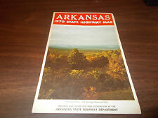 1970 Arkansas State-issued Vintage Road Map