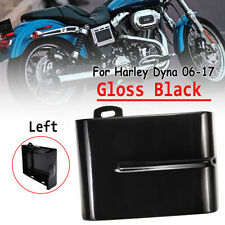 1X Motor Black Left Side Battery Cover For Harley Dyna Wide Glide Bob 06-17 16