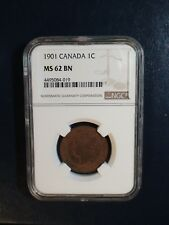 1901 Canada LARGE Cent NGC MS62 BN 1C Coin PRICED TO SELL RIGHT NOW!