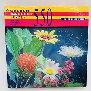 Flowers Under Water 550Piece Jigsaw Puzzle John Gadja Golden Gallery Made in USA