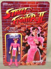 "PINK CHUN LI Street Fighter II Champion Variant ReAction Super7 3.75"" Figure"
