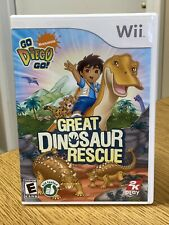 WII Great Dinosaur Rescue Go Diego Go 2K Play Video Game