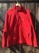 Patagonia Fleece Pullover Red Men's Size M 1/4 Zip Jacket Camping Hiking