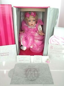 MARIE OSMOND CHILDS PLAY COMING UP ROSES PORCELAIN DOLL COA #2301 PRE-OWNED MINT