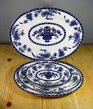 FIVE Clementson Flow Blue Delft Oval Platters