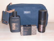 Mens TED BAKER Barnsbury Wash Bag, Hair/Body Wash, Body Spray & Soap Gift Set.