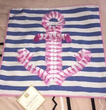 NWT NEW Pottery Barn Teen Frilly Fringe Anchor Pillow Cover 16 X 16
