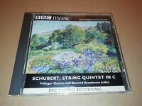 SCHUBERT STRING QUINTET IN C ~ VELLINGER QUARTET WITH BERNARD GREENHOUSE BBC CD