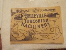 1913-14  CATALOG BELLEVILLE THRESHING MACHINERY HARRISON MACHINE BELLEVILLE ILL.