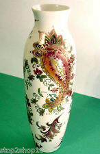 """Lenox Tall Vase Burnished Amber Paisley Motif 10-3/8""""H Gold Accents New Boxed"""