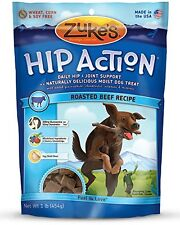 Zuke`s Hip Action Dog Treats, Roasted Beef Recipe, 16-Ounce , New, Free Shipping