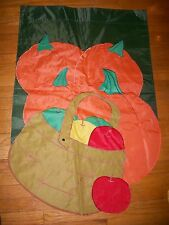 (Used) Fall Autumn Garden Yard Flag Pumpkin Apple Harvest Halloween Thanksgiving