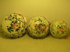 3 VINTAGE ITALY MOLDS ARTISTICHE BASSANESI CERAMICHE FLORAL 3 DIFFERENT SIZES