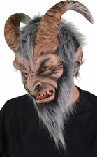 Morris Costume Adult New Krampus Sculpted Satyr Head Latex Mask One Size. 1006MF