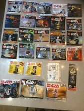 Lego Star Wars polybag minifigure collection all 28 figures complete set