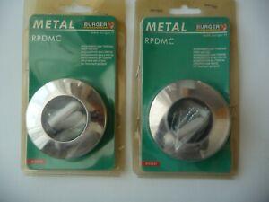 Burger RPDMC platine murale métal chromé lot de 2