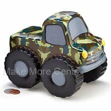 Monster Truck Coin Piggy Bank - Camo Finish - FREE SHIPPING