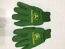JOHN DEERE UTILIY GLOVES JERSEY COTTON KNIT PEBBLE PALM Medium