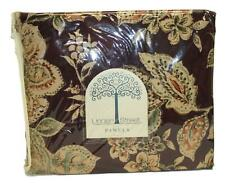 "Linden Street JC Penney Burgundy Floral Tab Top Drapery Panels Pair 40 x 84"" NEW"