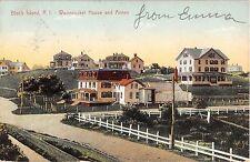 1907 Woonsocket House & Annex Block Island RI post card