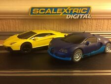 Scalextric Digital Lamborghini Aventador & Bugatti Veyron Twin Pack *Brand New*