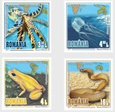 Choose Your Poison Creatures mnh set of 4 stamps 2017 Romania Snake Jellyfish