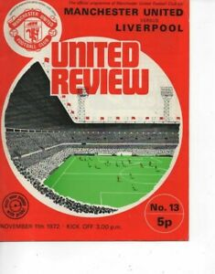 Manchester United v Liverpool 1972/73  Division 1 complete with token