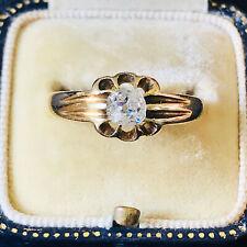 Gents, Edwardian 18ct, 18k, 750 gold old-cut Diamond 0.50ct Gypsy ring, 4.2 gram