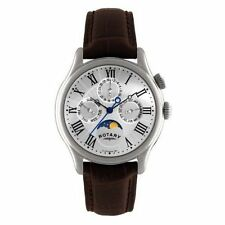 Stainless Steel Band Men's Rotary Wristwatches