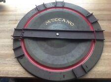 "Early O gauge Meccano Hornby model railway turntable. 14"" diameter"