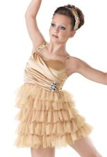 Girls child DANCE BRAND NEW LARGE CHILD size 10-12 nude lyrical Dance Costume