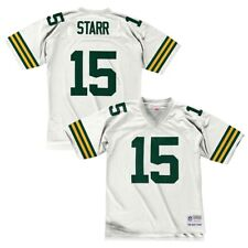 Mitchell & Ness Bart Starr Green Bay Packers White Replica Retired Player Jersey L