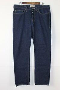 Mens Naked Famous Weirdguy 01X133 Dry Indigo Nep 11 oz  Denim Slim Jeans 36x32