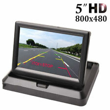 "Foldable 5"" HD LCD Screen Parking Display Monitor For Car Front Rear View Camera"