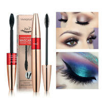 2-in-1 4D Silk Fibre Mascara Eyelash Long Lasting Waterproof Extension Makeup