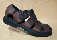 Rockport Mens Brown Leather Fisherman Sandals 12 M