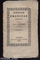 TEATRO FRANCESE TRADOTTO - MORTE DI CESARE di M. Cesarotti - PALERMO 1831