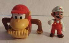 Nintendo 2006 - 2007 Wind Up Donkey Kong & Miniature Mario Figure Lot of 2