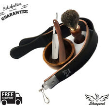 4Piece Vintage CLASSIC OLD Style Men's Shaving Set Cut Throat Razor SHAVE BRUSH