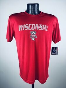 Youth Boys Colosseum Wisconsin Badgers Red Performance Digit Tee Shirt 2XL
