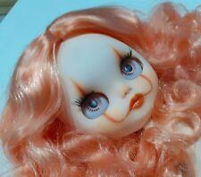 Ooak custom blythe doll orange blythe . It beauty doll.