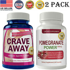 Crave Away Appetite Control Fat Burn Pills Pomegranate Extract Weight Loss Caps
