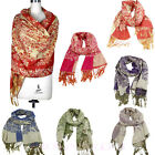 Lady Women Warm Soft Jacquard Pashmina Hood Cowl Warm Winter Shawl Scarf Wraps