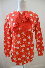 Maglione rosso pois fiocco vintage BLUMARINE polka dot red sweater jumper bow