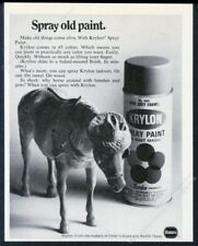 1968 Krylon spray paint can toy horse photo vintage print ad