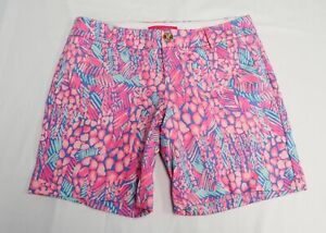Lilly Pulitzer Women's Jayne Knit Short SG8 Pink Sorbet High Altitude Size 2 NWT