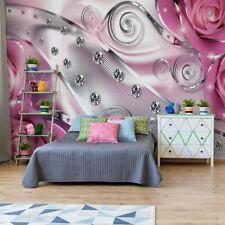 Tapete Fototapete Vlies Roses Diamanten Luxus-Design Rosa