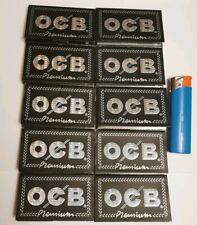 OCB  Premium noir courtes 10 carnets de 100 feuilles rouler+1 briquet offert